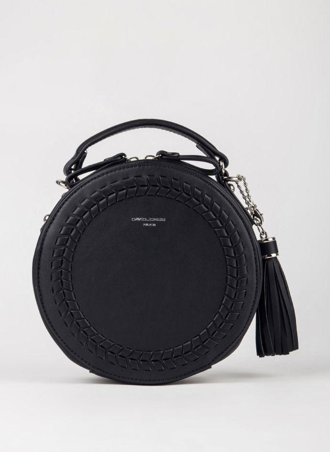 Στρογγυλή τσάντα χιαστί David Jones - Μαύρο