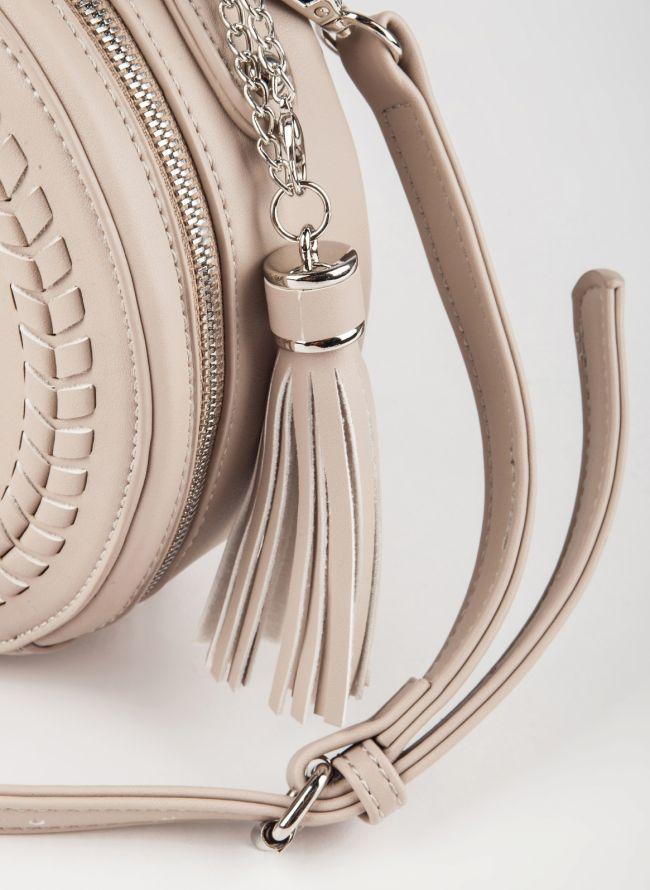Στρογγυλή τσάντα χιαστί David Jones - Άμμου