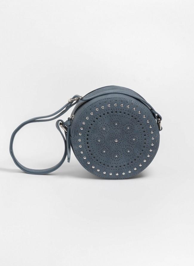 Στρογγυλή χιαστί τσάντα με διάτρητο σχέδιο - Ραφ ab0fbda1d31