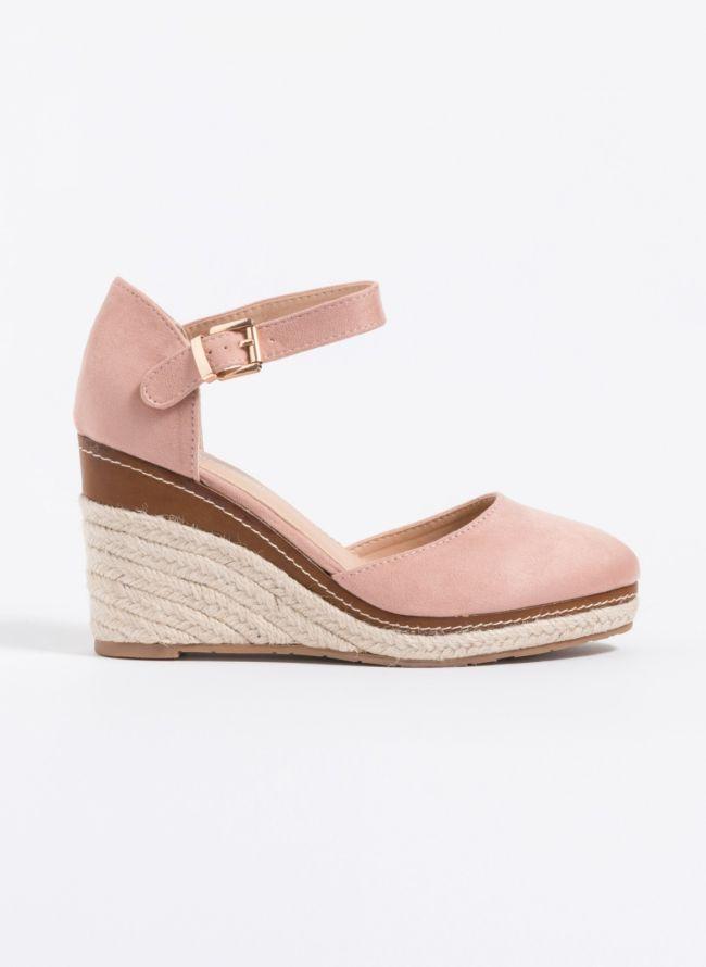Suede espadrilles πλατφόρμες - Ροζ