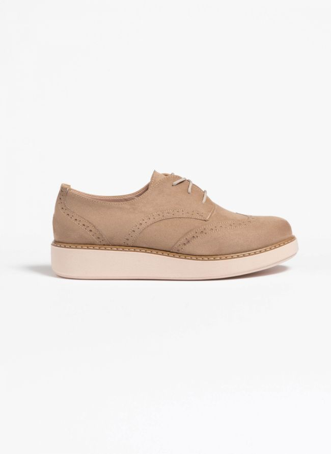 Suede oxfords - Μπεζ
