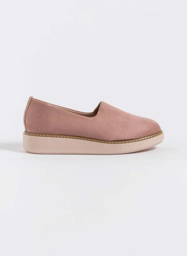 Suede slip ons - Ροζ - TheFashionProject e6a83ed7699