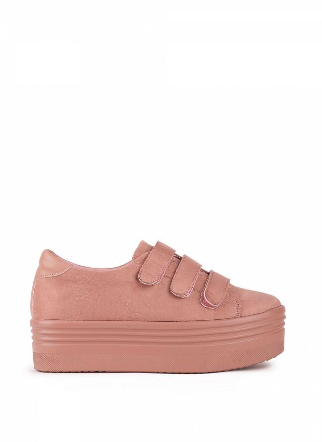 Sneakers με αυτοκόλλητα - Ροζ
