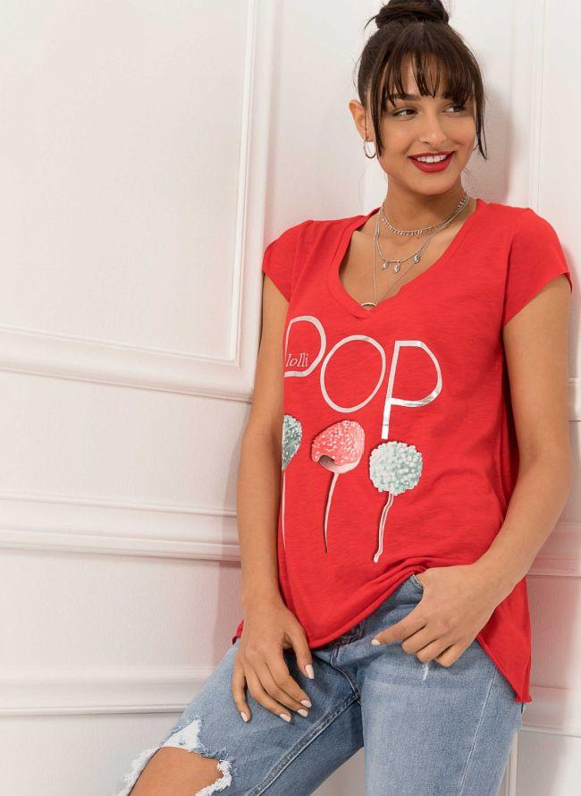 T-shirt  - Κόκκινο