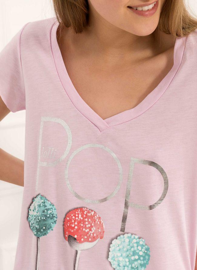 T-shirt  - Ροζ