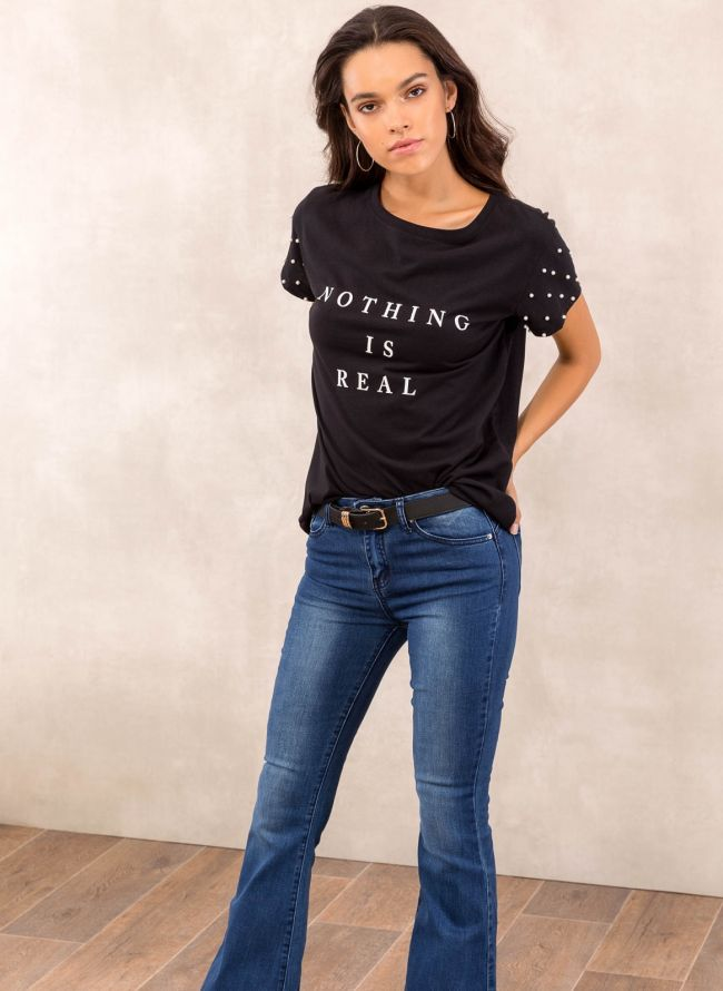 T-shirt  - Μαύρο