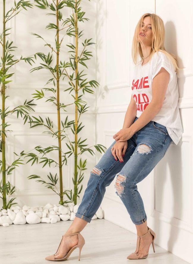 Τ-shirt Same old chic - Λευκό