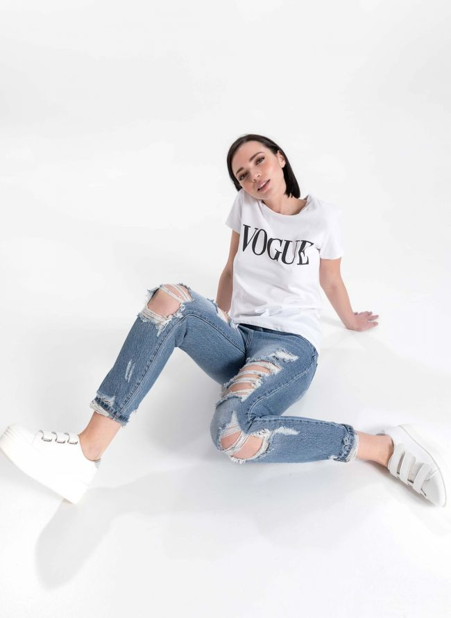 T-shirt  'Vogue' - Λευκό