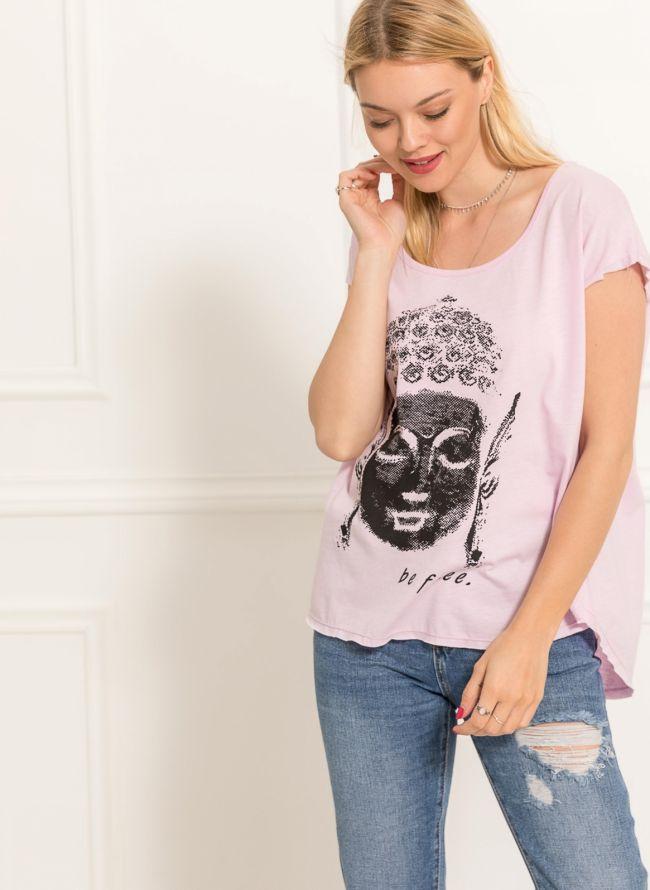 T-shirt Βούδας - Ροζ