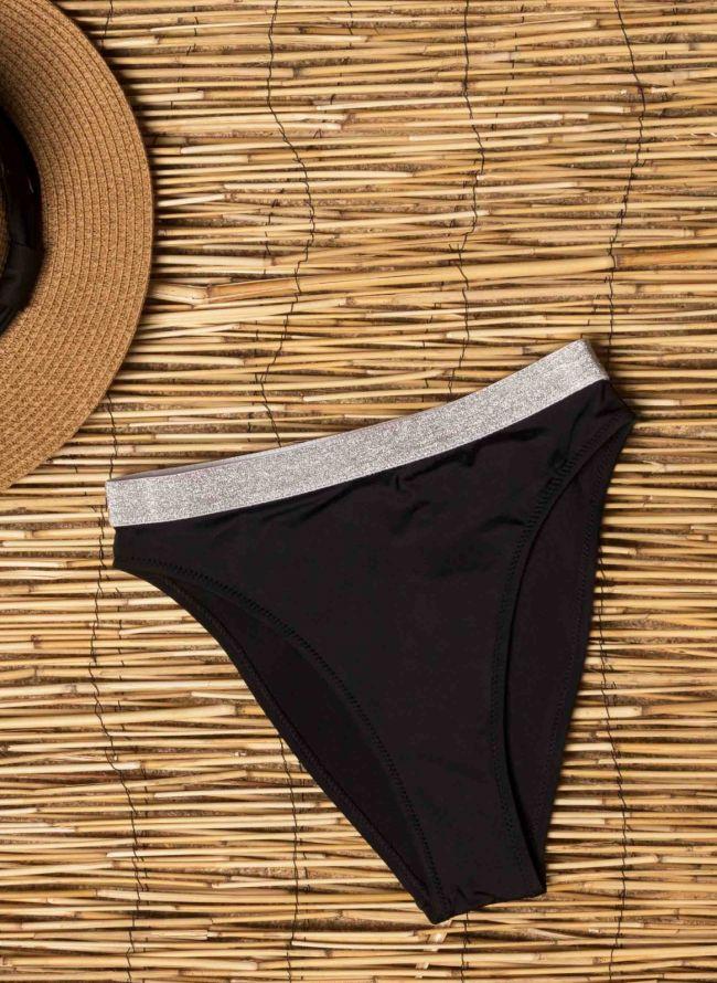 Thigh Sports Slip Swimwear - Μαύρο