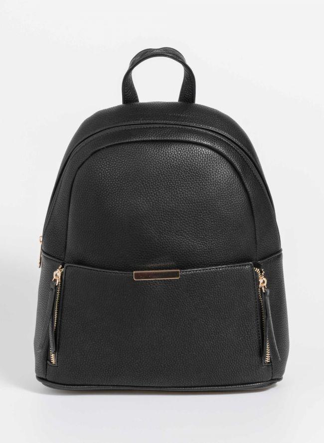 Backpack με εξωτερικό τσεπάκι - Μαύρο