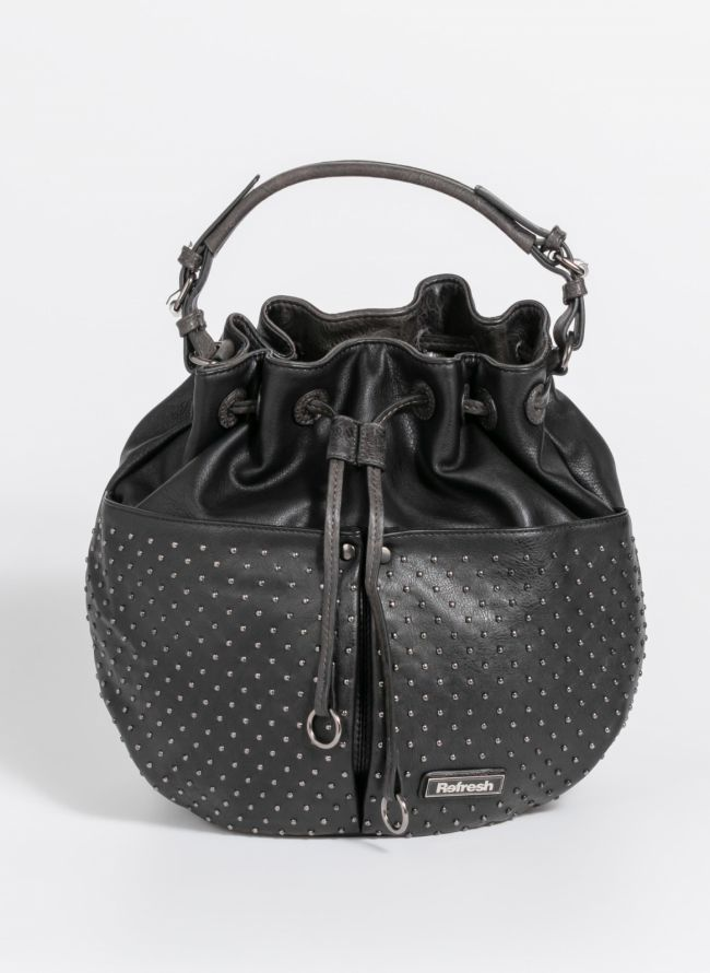 Τσάντα σε σχήμα πουγκί - Μαύρο