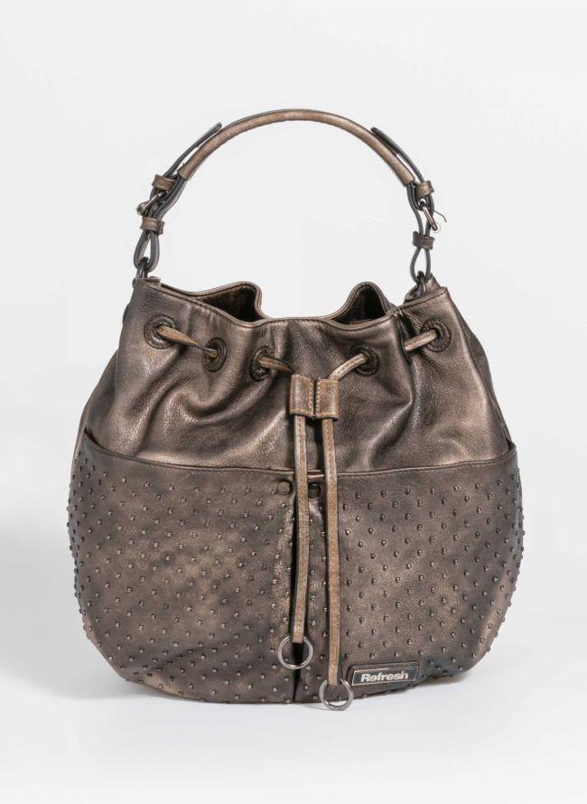Τσάντα σε σχήμα πουγκί - Μπρονζέ
