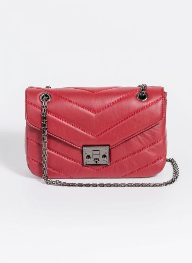 Τσάντα χειρός με αλυσίδα - Μπορντό