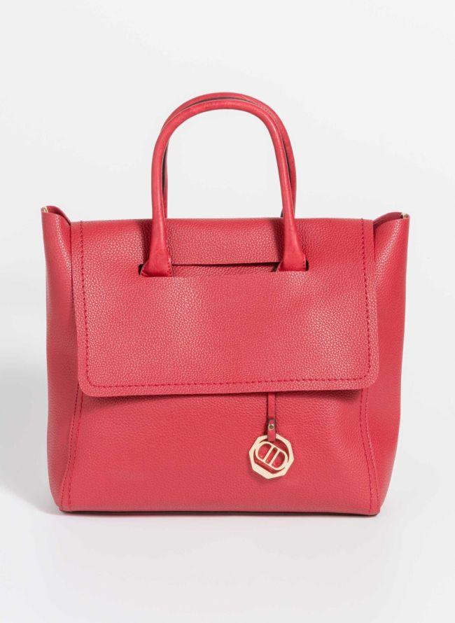 Τσάντα χειρός με μαλακό καπάκι - Κόκκινο