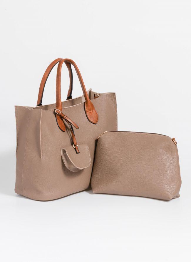 Τσάντα χειρός με πορτοφολάκι - Πούρο