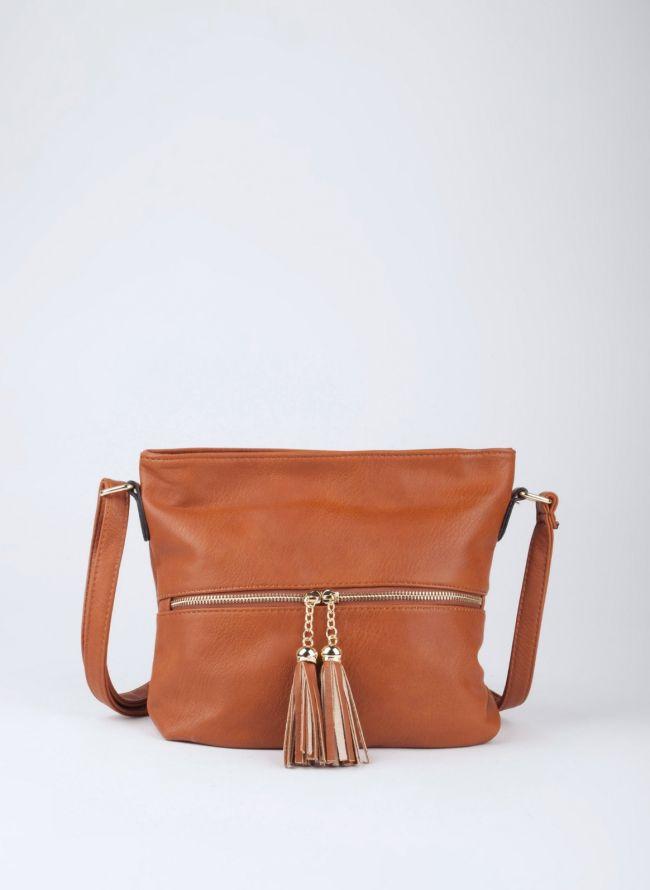 Τσάντα χιαστί με κρόσσια - Ταμπά