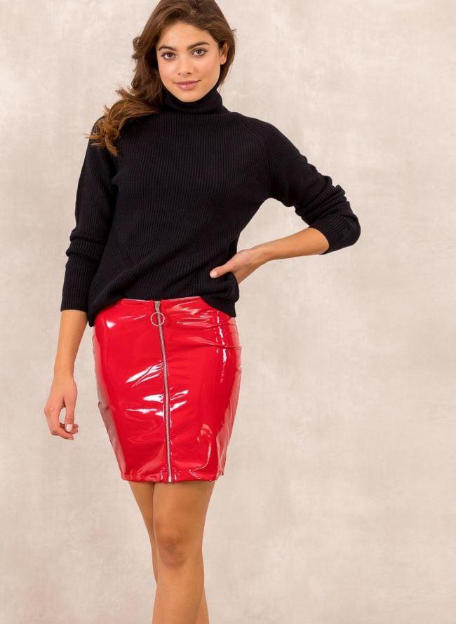 Mini jean φούστα με σκισίματα - Μαύρο - TheFashionProject 3cc0cb9ebdb