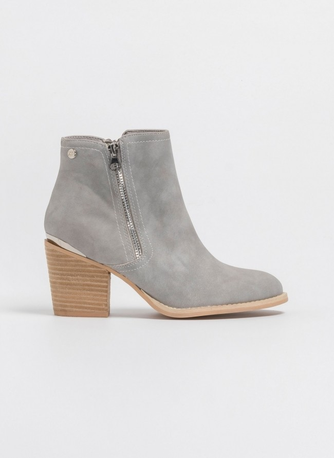4dd193a5f6e Western ankle boots με εξωτερικό φερμουάρ 48927 - Πάγου