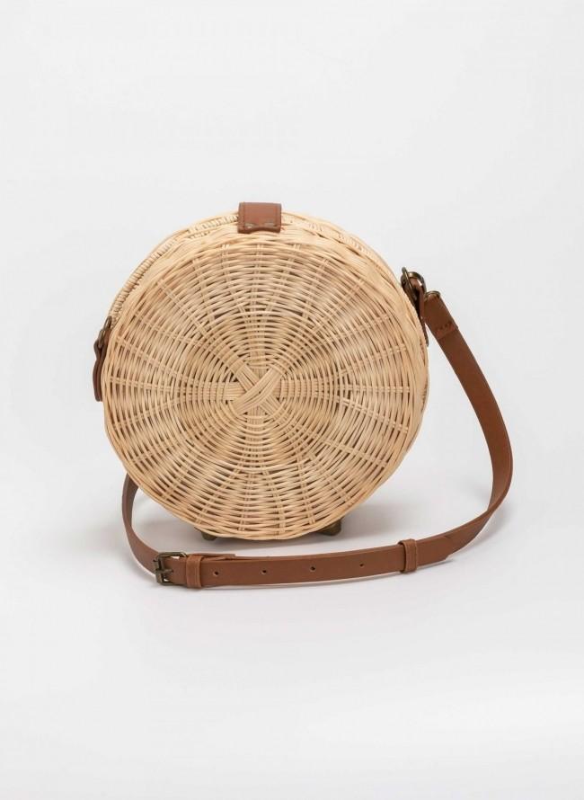 be3d7789eb Χειροποίητη bamboo χιαστί τσάντα - Μπεζ