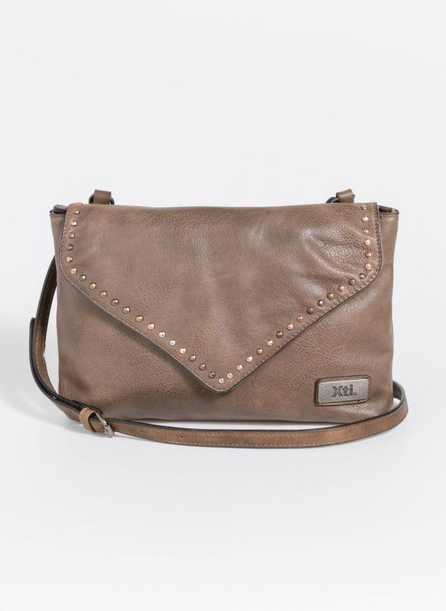 Χιαστί τσάντα με διακριτικά τρουκς - Τάουπε