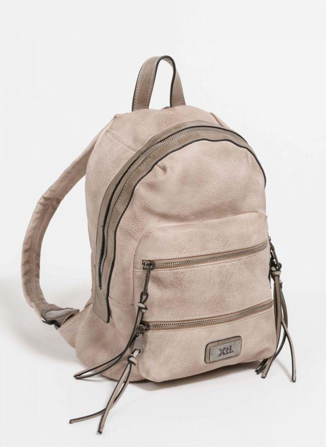 Xti backpack με διπλή εξωτερική θήκη - Μπεζ