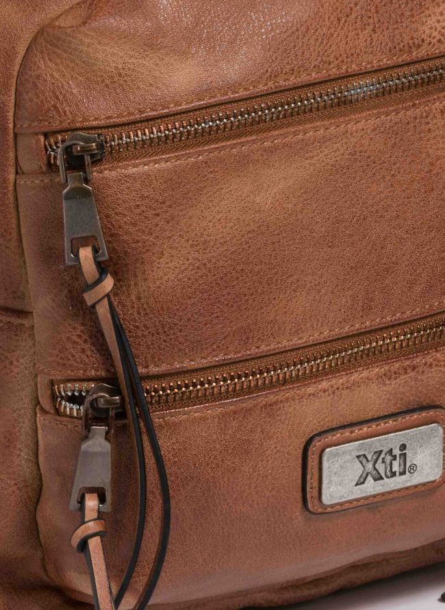 Xti backpack με διπλή εξωτερική θήκη - Ταμπά