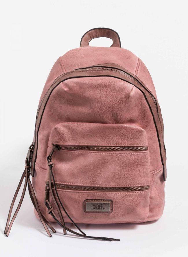 Xti backpack με διπλή εξωτερική θήκη - Nude