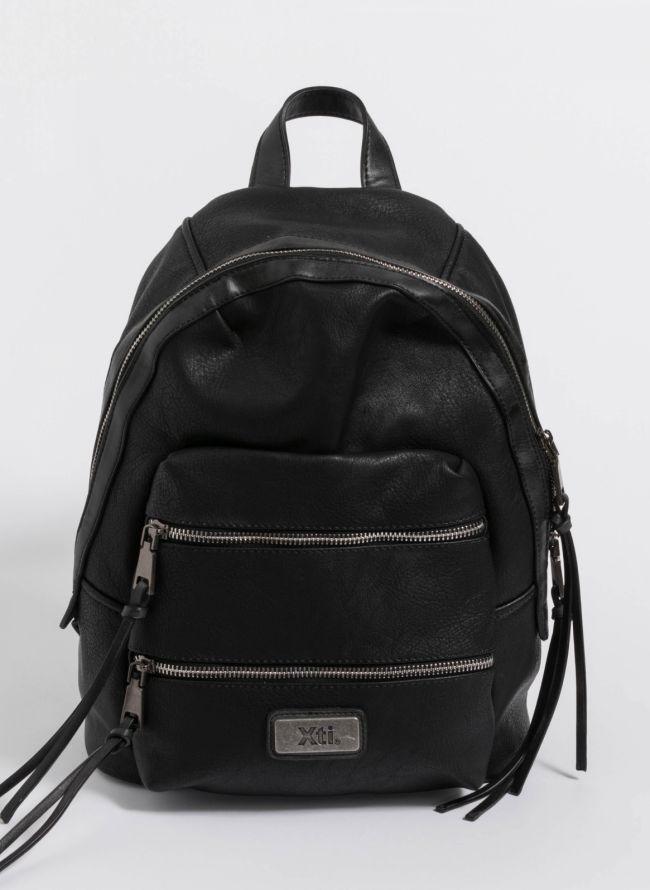 Xti backpack με διπλή εξωτερική θήκη - Μαύρο