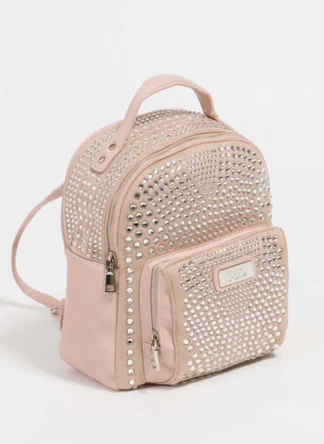 Xti backpack με στρας - Nude