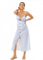 91edb68a16c8 Φόρεμα ριγέ με κουμπιά - Γαλάζιο - TheFashionProject