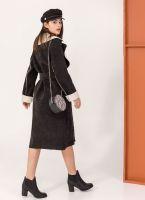 Κοτλέ παλτό με οικολογικό sheepskin - Μαύρο - TheFashionProject 5b828671b88