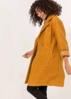 Παλτό από συνθετικό μαλλί προβάτου - Μουσταρδί - TheFashionProject 8fdf284e105
