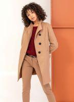 Παλτό μεσάτο με λοξό κούμπωμα - Κάμελ - TheFashionProject efc2d070006