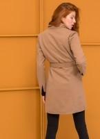 Παλτό μεσάτο με λοξό κούμπωμα - Πούρο - TheFashionProject 54d573e995f