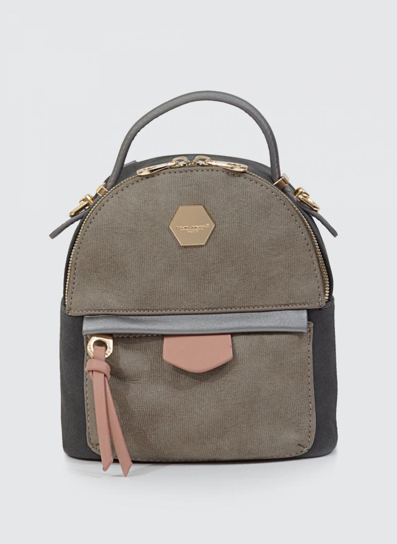 ΔΙΧΡΩΜΟ MINI BACKPACK DAVID JONES 3349 - Ανθρακί - TheFashionProject b1450dcf381
