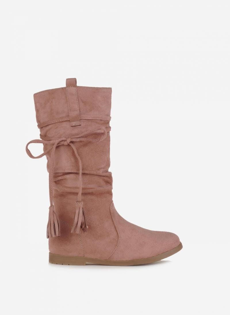 SUEDE ΜΠΟΤΕΣ ΙΠΠΑΣΙΑΣ - Ροζ - TheFashionProject 1d8d10d33b1