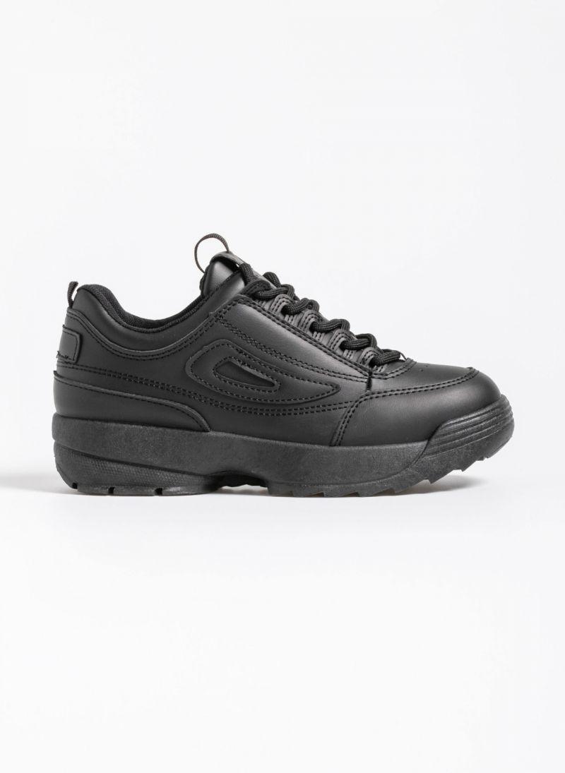 Αθλητικά παπούτσια μόδας με σόλα chunky - Μαύρο - TheFashionProject ba57c857d16