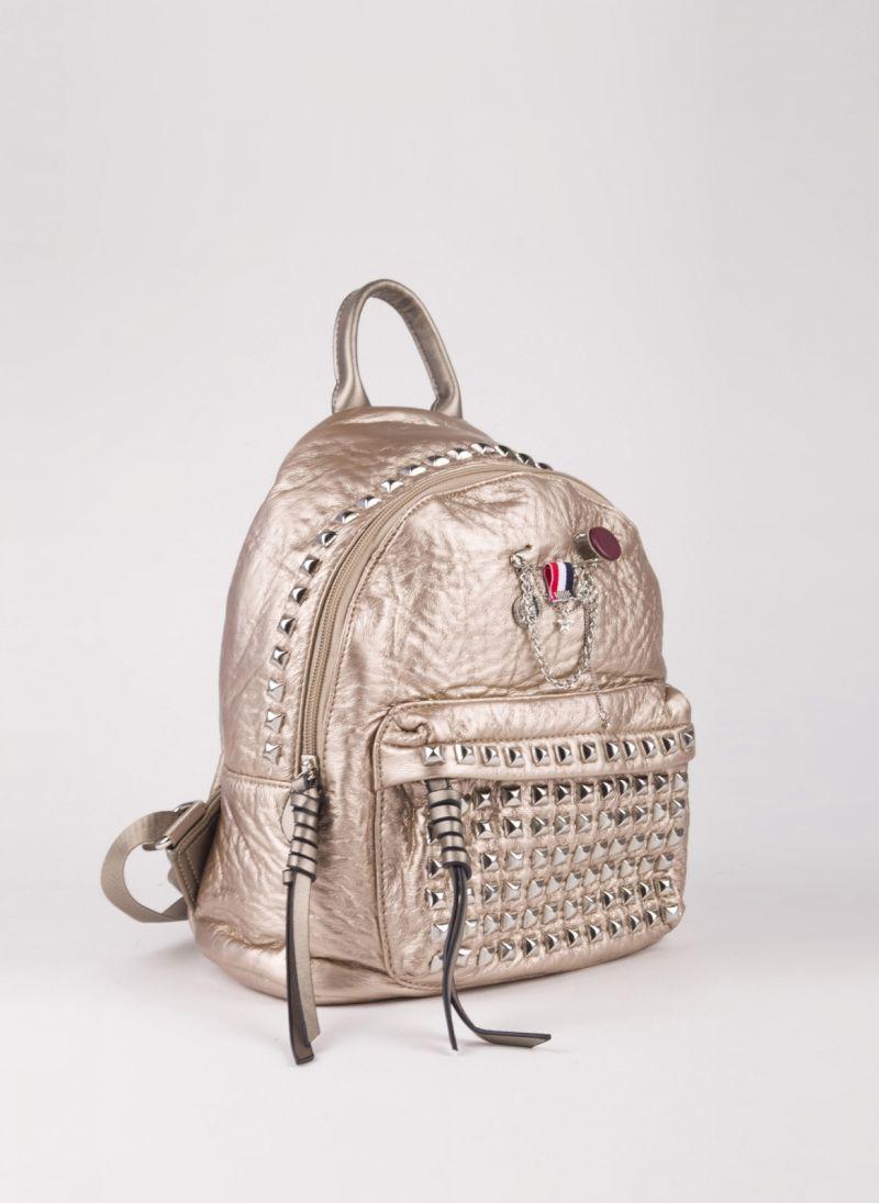 Backpack με τρουκς - Χρυσό - TheFashionProject ae8e56c0d46