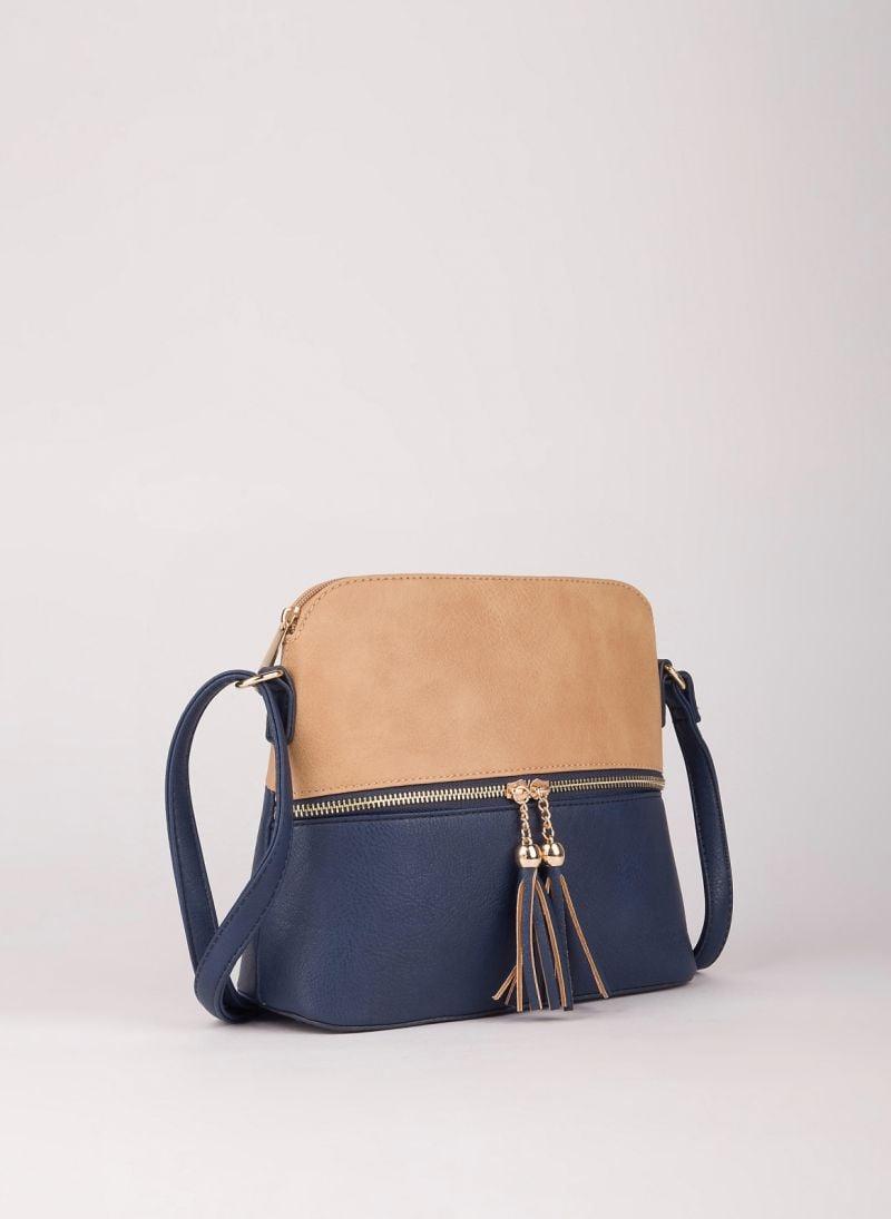 Δίχρωμη χιαστί τσάντα