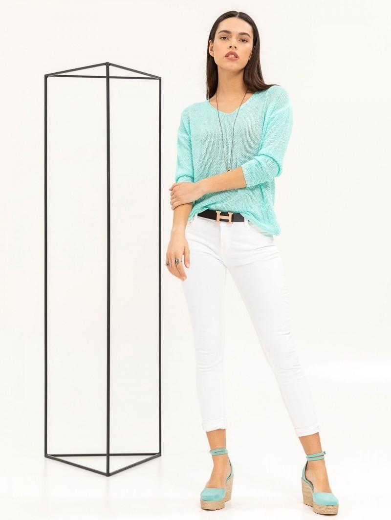 Ελαφριά μπλούζα με αραιή πλέξη - Βεραμάν - TheFashionProject 9ff6856142f