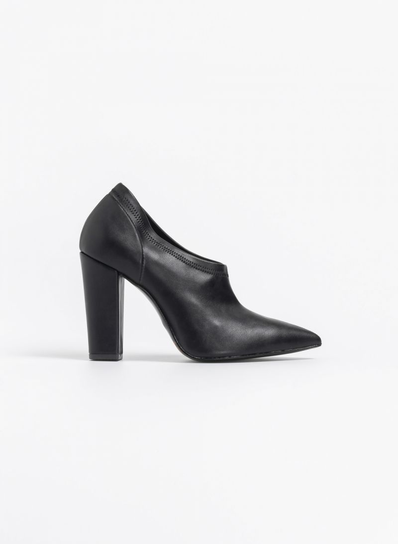 fc7b16479ab Estil block heel γόβα-μποτάκι - Μαύρο - TheFashionProject