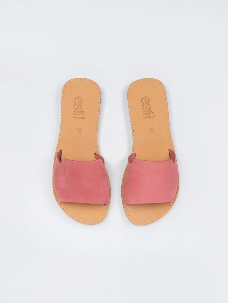 527a4efec08 Estil nubuck σανδάλια με φαρδιά φάσα - Φούξια - TheFashionProject