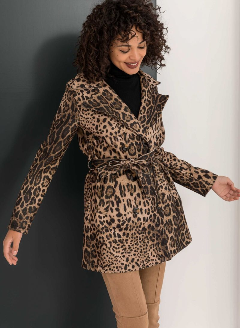 Leopard σταυρωτό παλτό - Leopard - TheFashionProject 87af2952643