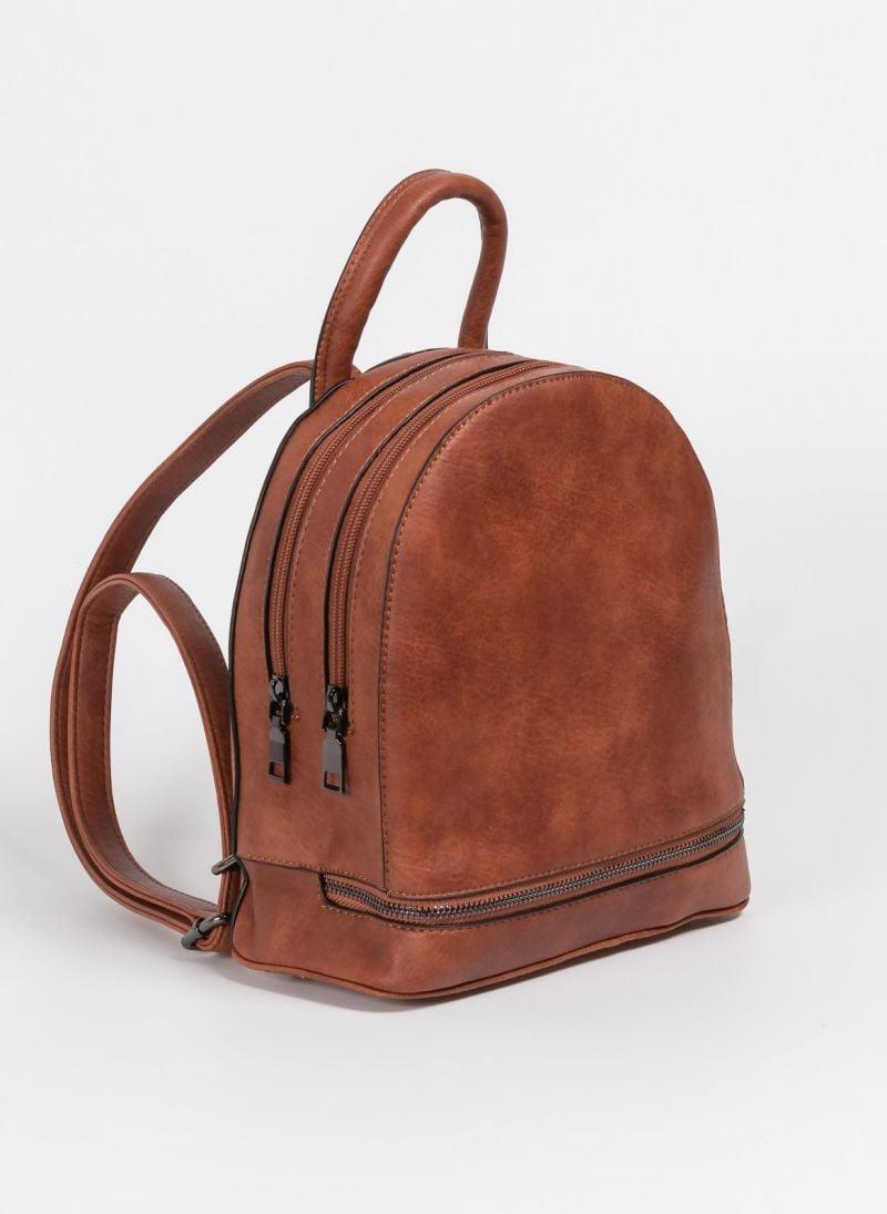 Mini backpack με δύο θήκες - Ταμπά - TheFashionProject 217d7d218d2
