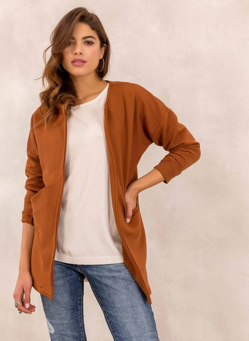 Oversized σακάκι χωρίς κουμπιά - Ταμπά - TheFashionProject 6bc60331864