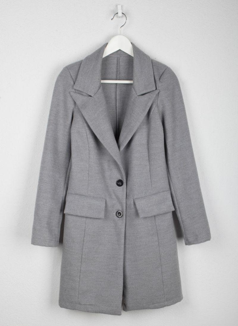 Παλτό μεσάτο με κουμπιά - Γκρι - TheFashionProject 75a70eba42c