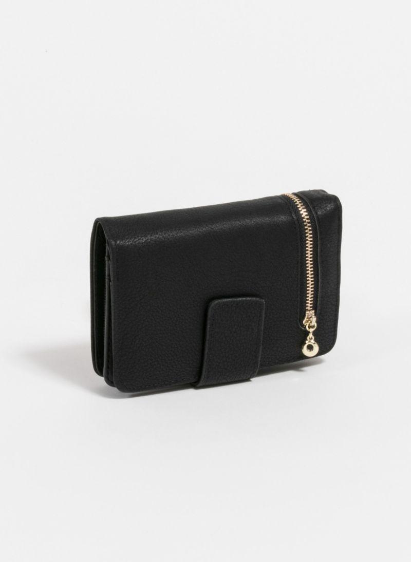 5771670d39 Πορτοφόλι με εξωτερικό φερμουάρ - Μαύρο - TheFashionProject