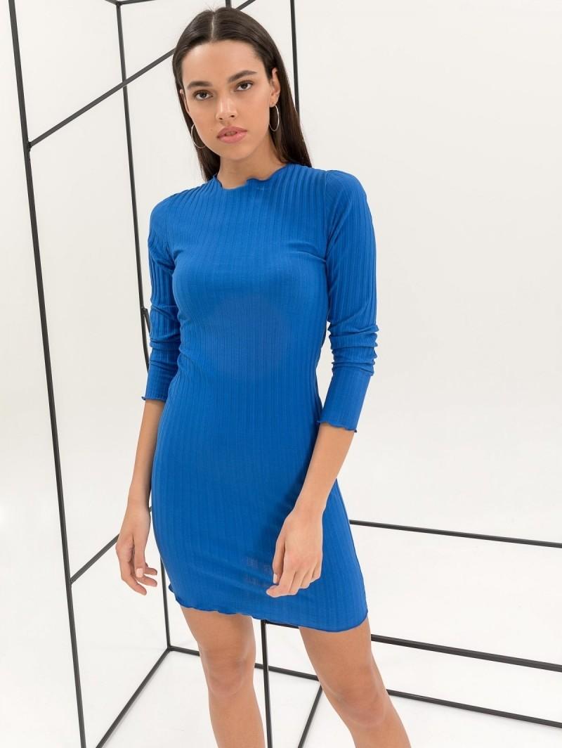 46d1df730ed2 Ριπ εφαρμοστό midi φόρεμα - Μπλε - TheFashionProject