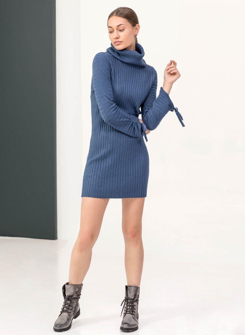 Ριπ πλεκτό εφαρμοστό φόρεμα με ζιβάγκο - Ραφ - TheFashionProject 965ab29b30e